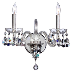 Quorum Lighting Bohemian Katerina Chrome Sconce