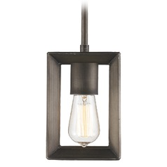 Golden Lighting Smyth Gunmetal Bronze Mini-Pendant Light