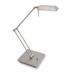Genesis Satin Nickel LED Swing Arm Lamp