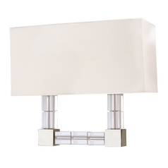 Crystal Sconce Polished Nickel Alpine by Hudson Valley Lighting