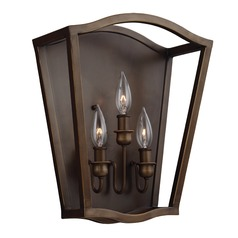 Feiss Lighting Yarmouth Painted Aged Brass Sconce