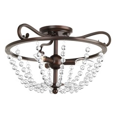 Progress Lighting Bliss Antique Bronze Semi-Flushmount Light