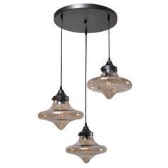 Kenroy Home Rain Drop Warm Bronze Multi-Light Pendant