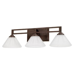 Mid-Century Modern Bathroom Light Bronze Avalon by Capital Lighting