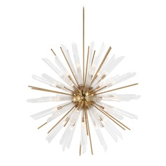 Feiss Lighting Quorra Burnished Brass Chandelier