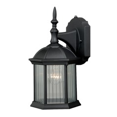 Kingston Textured Black Outdoor Wall Light by Vaxcel Lighting