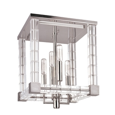 Hudson Valley Vintage Crystal Ceiling Light in Polished Nickel Finish