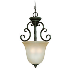 Jeremiah Barrett Place Mocha Bronze Pendant Light with Bell Shade