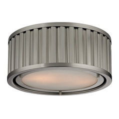 LED Flushmount Light in Brushed Nickel Finish