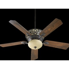 Quorum Lighting Cimarron Toasted Sienna Ceiling Fan with Light