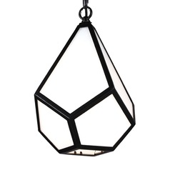 Feiss Diamond Black Mini-Pendant Light