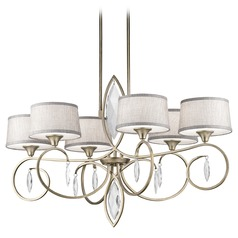 Kichler Casilda 6-Light Chandelier in Sterling Gold