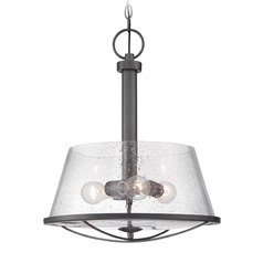 Seeded Glass Pendant Light Iron Designers Fountain Lighting