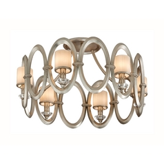 Corbett Lighting Embrace Satin Silver Leaf Semi-Flushmount Light