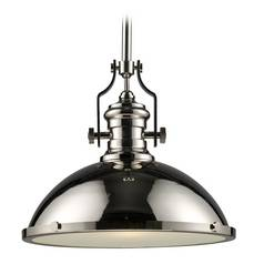 Nautical Pendant Light in Polished Nickel Finish