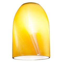 Butterscotch Art Glass Dome Shape Replacement Glass Shade - 1-5/8-Fitter Size