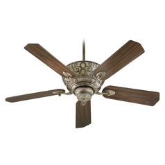 Quorum Lighting Cimarron Mystic Silver Ceiling Fan with Light