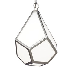 Feiss Diamond Polished Nickel Mini-Pendant Light