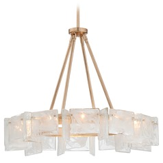 Metropolitan Arctic Frost Antique French Gold Pendant Light