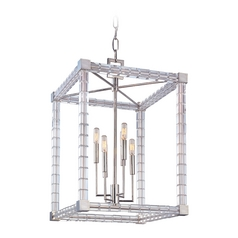 Crystal Pendant Light Polished Nickel Alpine by Hudson Valley Lighting