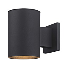 Cylinder Outdoor Wall Down Light in Powder Coated Black Finish