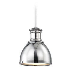 Chrome Small Pendant Light 7.38-Inch Wide