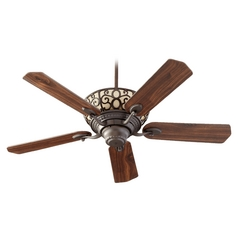 Quorum Lighting Cimarron Oiled Bronze Ceiling Fan with Light