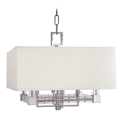 Hudson Valley Vintage Crystal Pendant Light in Polished Nickel Finish