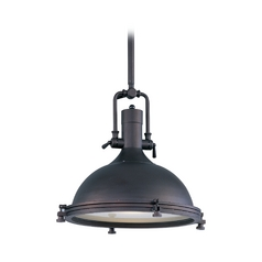 Maxim Lighting Hi-Bay Bronze Pendant Light with Bowl / Dome Shade