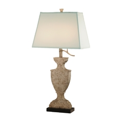 Table Lamp in Silver Sparkle Finish