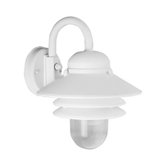 Prismatic Acrylic Outdoor Wall Light White Progress Lighting