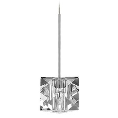 WAC Lighting Crystal Collection Brushed Nickel Track Pendant