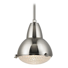 Nautical Pendant Light Satin Nickel Belmont by Hudson Valley Lighting