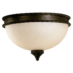 Quorum Lighting Alameda Oiled Bronze Flushmount Light
