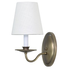 House Of Troy Lake Shore Antique Brass Wall Lamp