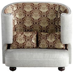 Cyan Design the Tunnel Of Love Grey & Patterned Fabric Chair