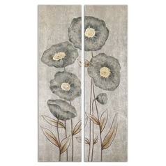 Uttermost Graceful Flowers Hand Painted Art, Set of 2