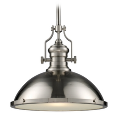 Pendant Light in Satin Nickel Finish