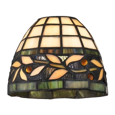 Design Classics Lighting Dome Tiffany Glass Shade - 1-5/8-inch fitter GL1043