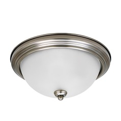 Sea Gull Lighting Ceiling Flush Mount Antique Brushed Nickel Flushmount Light