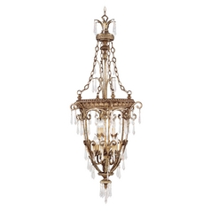 Livex Lighting La Bella Vintage Gold Leaf Pendant Light