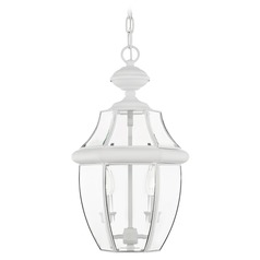 Livex Lighting Monterey White Outdoor Hanging Light