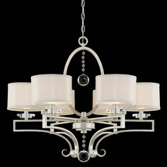 Savoy House Silver Sparkle Crystal Chandelier