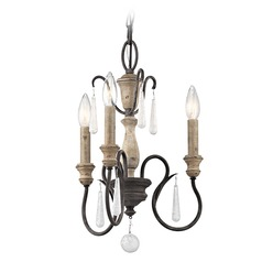 Kichler Lighting Kimblewick Weathered Zinc Mini-Chandelier