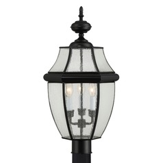 Quoizel Newbury Mystic Black Post Light