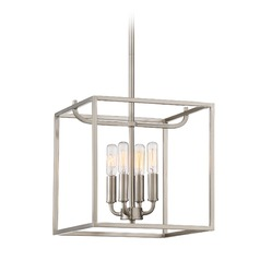 Designers Fountain Uptown Satin Platinum Pendant Light