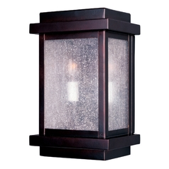 Maxim Lighting International Modern Outdoor Wall Light with Clear Glass in Burnished Finish 4651CDBU