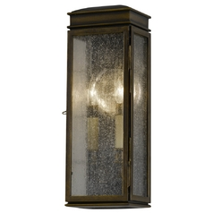 Outdoor Wall Light with Clear Glass in Astral Bronze Finish