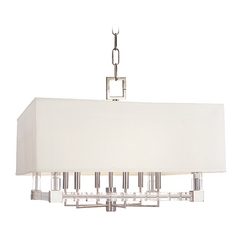 Hudson Valley Vintage Crystal Pendant Light with White Shade