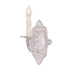 Sconce Wall Light in Antique White Finish